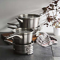 Calphalon® Premier™ Space Saving Stainless Steel Cookware Collection