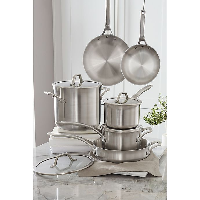 Alternate image 1 for Calphalon® Signature™ Stainless Steel Cookware Collection