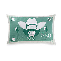 Kas Kids Wanted Bank Note Throw Pillow