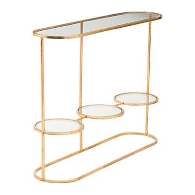 Zuo® Aron Console Table in Gold