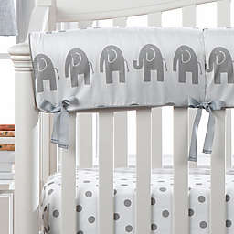 Liz and Roo Elephant Rail Guard Cover in Grey