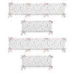 Sweet Jojo Designs Unicorn 4-Piece Crib Bumper Set
