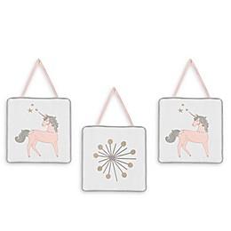 Sweet Jojo Designs Unicorn Wall Hangings (Set of 3)