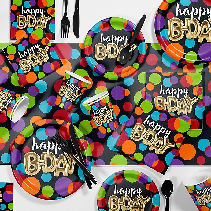 Alternate image 1 for Creative Converting 81-Piece Balloon Birthday Party Supplies Kit
