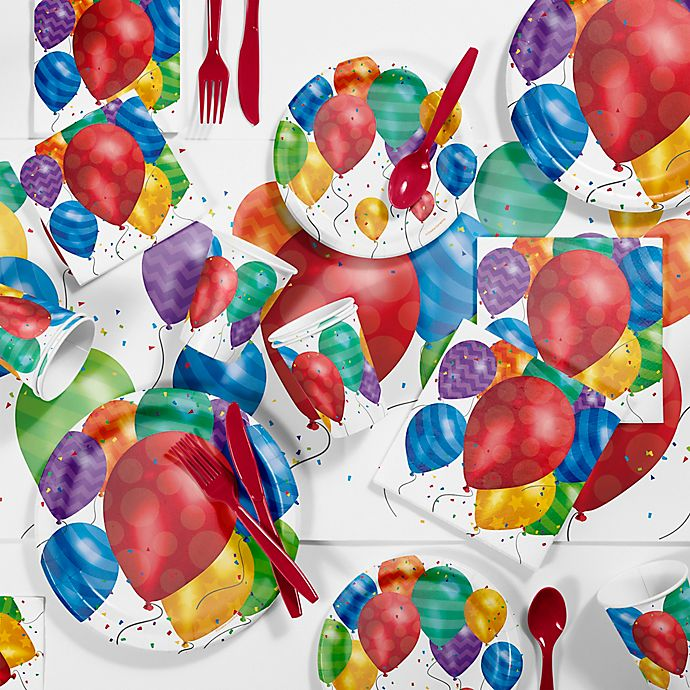Alternate image 1 for Creative Converting 81-Piece Balloon Blast Party Supplies Kit