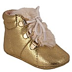 Jessica Simpson Size 9-12M Metallic Crackle Shoe in Gold