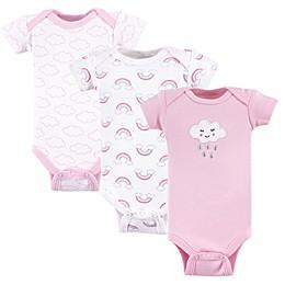 Luvable Friends® Preemie 3-Pack Cloud Short Sleeve Bodysuits