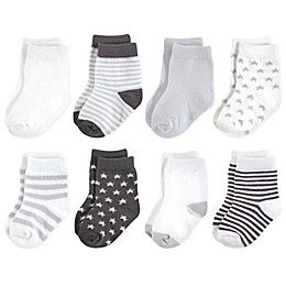 Touched by Nature 8-Pack Organic Socks in Grey