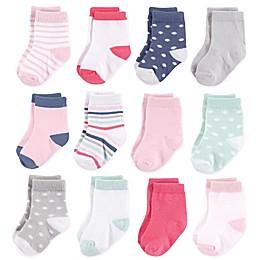 Hudson Baby® 12-Pack Basic Girl Crew Socks