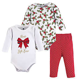Hudson Baby® 3-Piece Best Gift Layette Set in Red