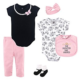Hudson Baby® 6-Piece Princess Layette Set in Pink