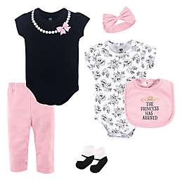 Hudson Baby® 6-Piece Princess Layette Set in Pink