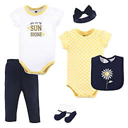 Hudson Baby® 6-Piece Daisy Layette Set in Yellow