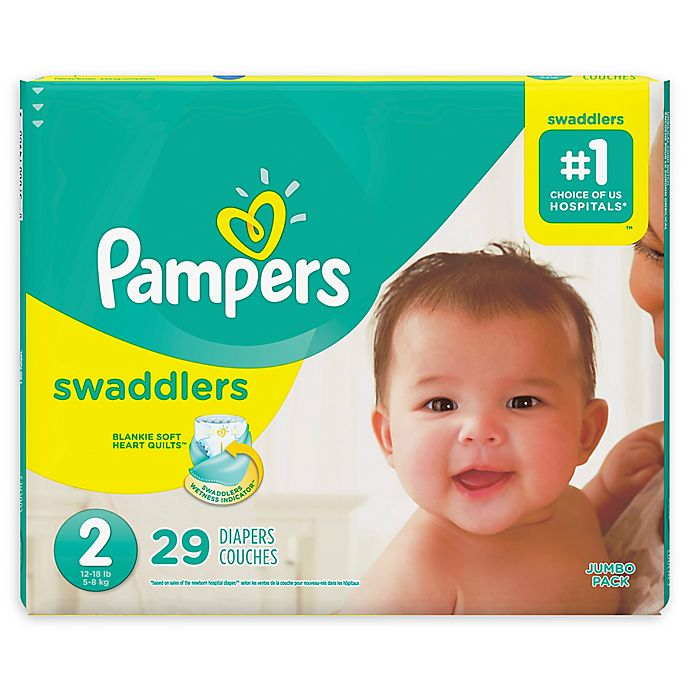 Alternate image 1 for Pampers® Swaddlers™ 29-Count Size 2 Jumbo Pack Diapers