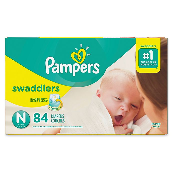 Alternate image 1 for Pampers® Swaddlers™ 84-Count Size 0 Super Pack Diapers