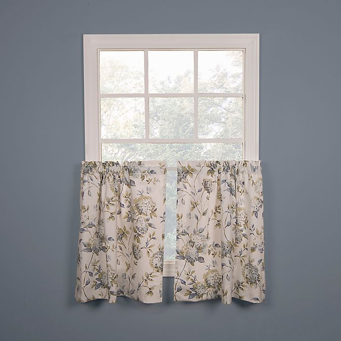 Alternate image 1 for Abigail 36-Inch Kitchen Window Curtain Tier Pair in Porcelain Blue