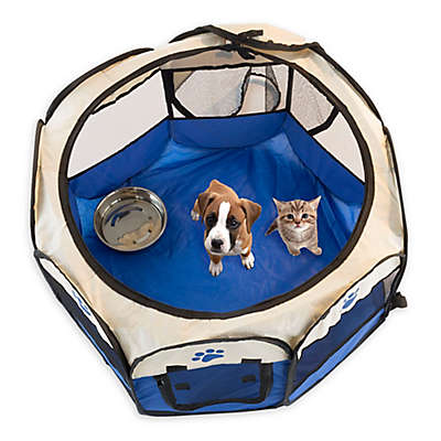 PETMAKER Pop-Up Pet Playpen in Blue