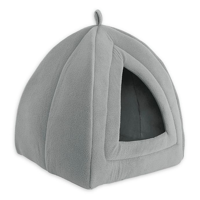 Alternate image 1 for PETMAKER Igloo Cat Bed in Grey