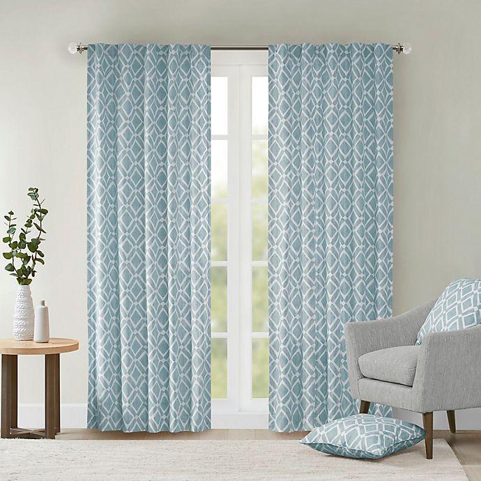 Alternate image 1 for Delray Diamond Light Filtering Window Curtain Panel