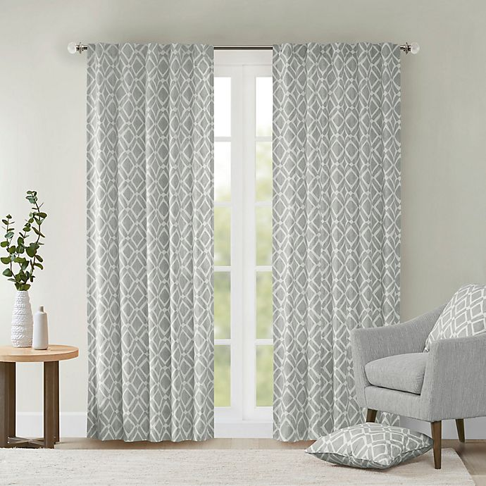 Alternate image 1 for Delray Diamond 42-Inch x 84-Inch Window Curtain Panel in Grey