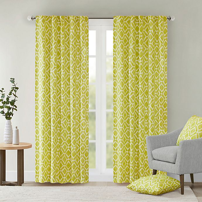 Alternate image 1 for Delray Diamond 42-Inch x 84-Inch Window Curtain Panel in Green