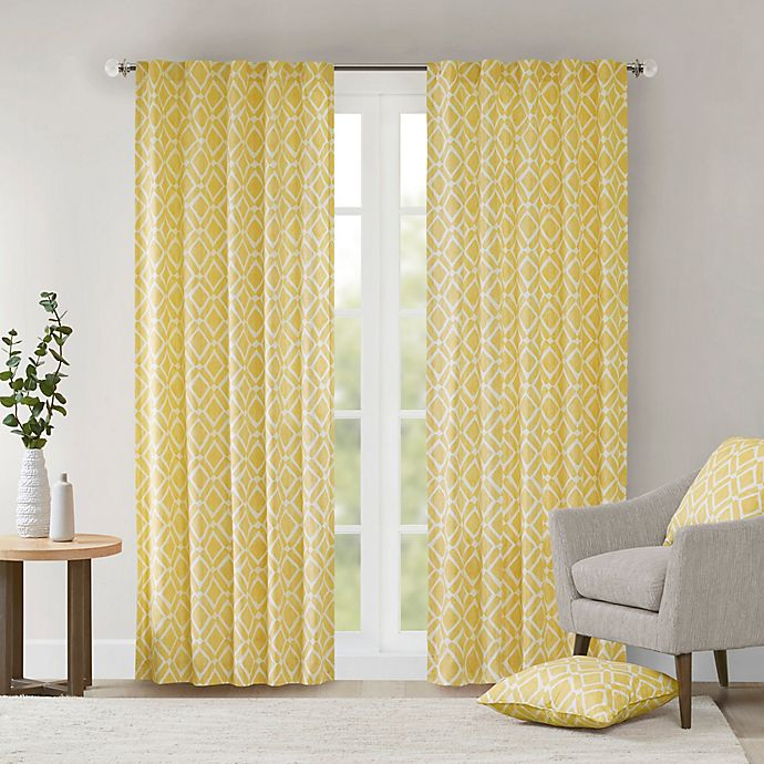Alternate image 1 for Delray Diamond 42-Inch x 84-Inch Window Curtain Panel in Yellow