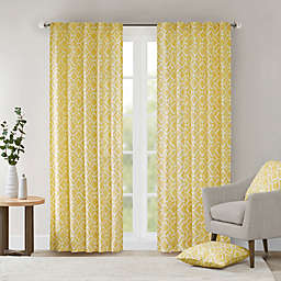 Delray Diamond 42-Inch x 84-Inch Window Curtain Panel in Yellow