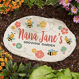 Grandma's Bee Happy Garden Round Garden Stone