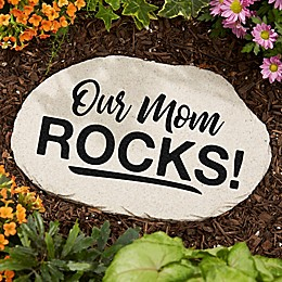Our Mom Rocks Garden Stone
