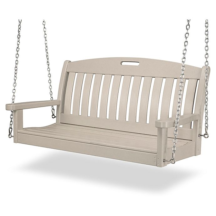 Alternate image 1 for POLYWOOD® Nautical Outdoor Swing in Sand