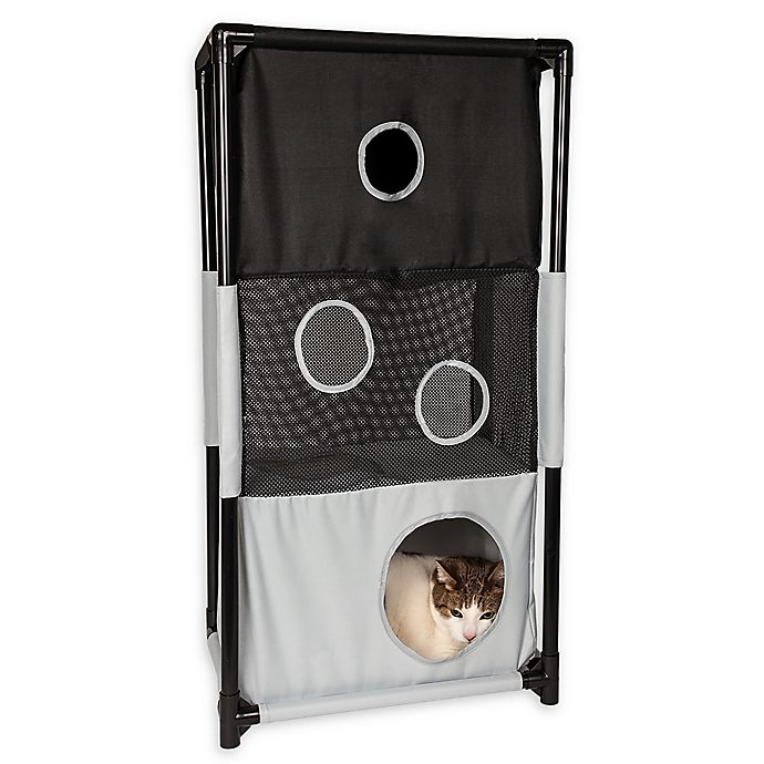 Alternate image 1 for Pet Life™ Kitty-Square Play-Active Cat Tree