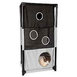 Pet Life™ Kitty-Square Play-Active Cat Tree
