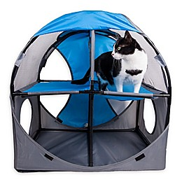 Pet Life™ Kitty-Play Obstacle Travel Collapsible Soft Folding Cat House