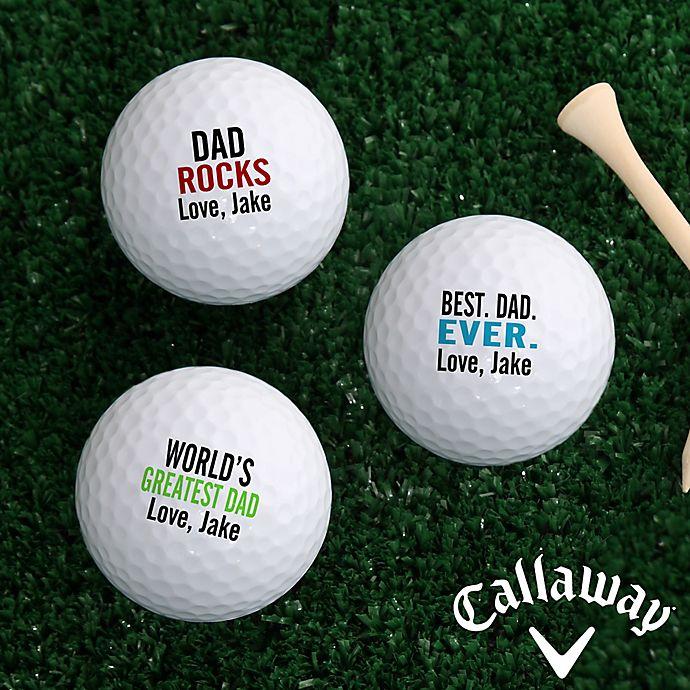 Alternate image 1 for Callaway® Best. Dad. Ever. Golf Balls (Set of 3)