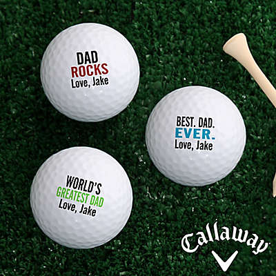 Callaway® Best. Dad. Ever. Golf Balls (Set of 3)