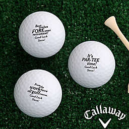 Callaway® Retirement Golf Balls (Set of 3)