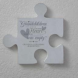 Grandparents 12-Inch Square Puzzle Piece Wall Décor