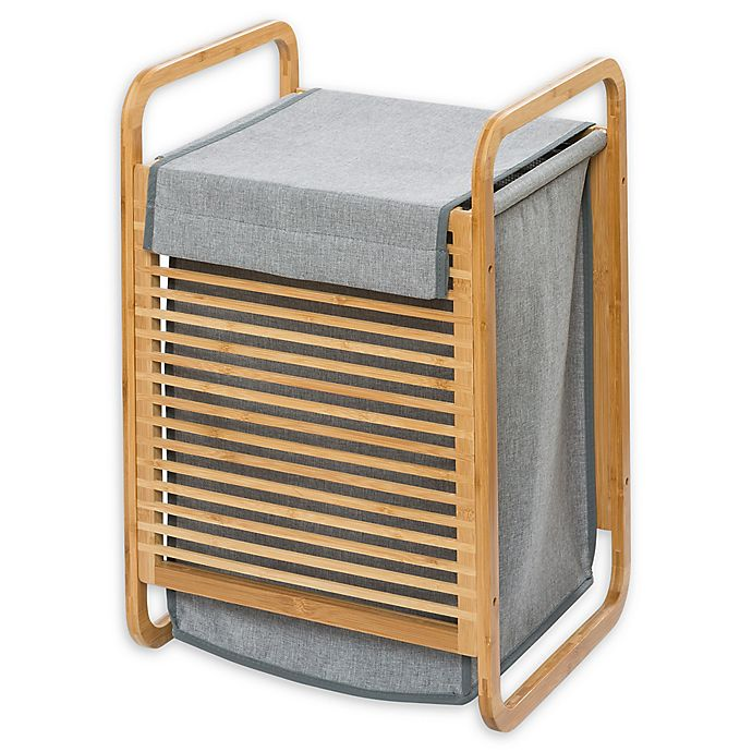 Alternate image 1 for Wenko® Bahari Laundry Bin in Grey