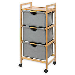 Wenko Bahari 3-Shelf Laundry Trolley