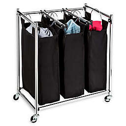 Honey-Can-Do® Easy Load Triple-Laundry Sorter in Black