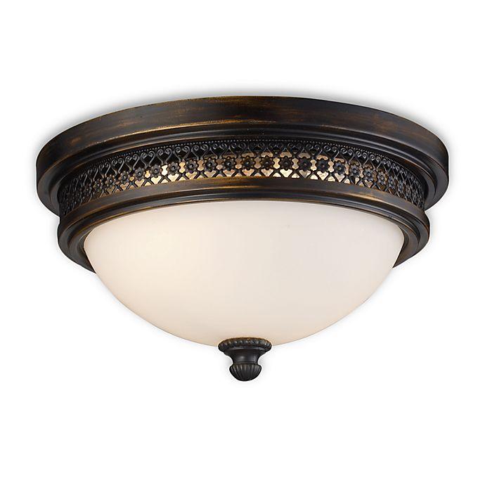 Alternate image 1 for ELK Lighting Flush Mount 2-Light Fixture in Deep Rust