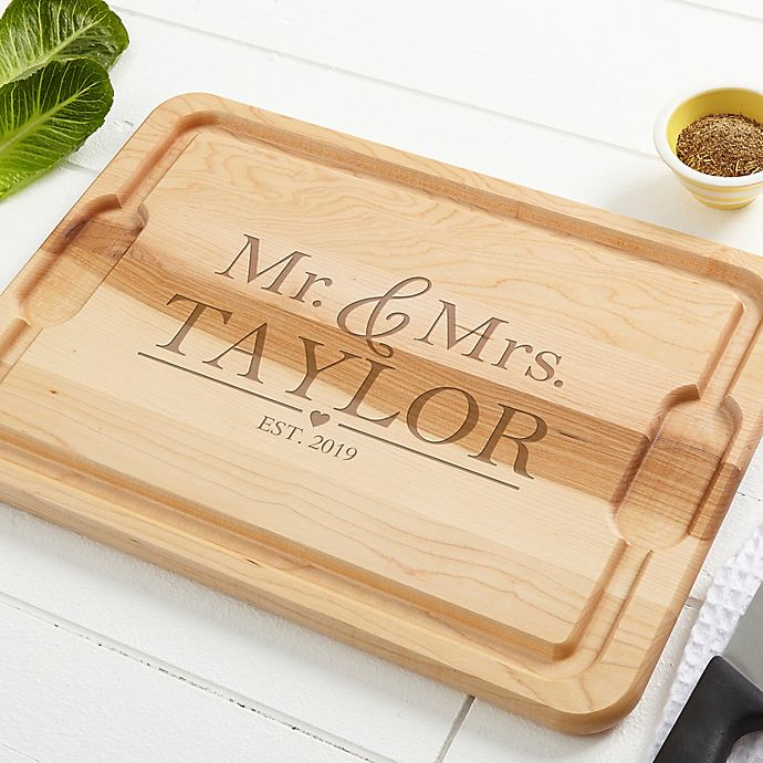 Alternate image 1 for The Wedding Couple Maple Cutting Board