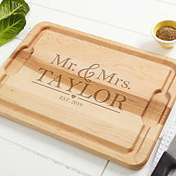 The Wedding Couple Maple Cutting Board