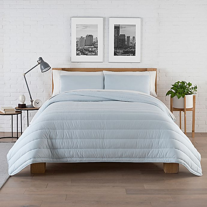 Alternate image 1 for Pure Beech® Jersey King Comforter Set in Sky Blue