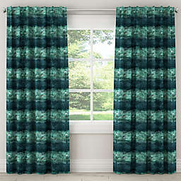 Watercolor Block Rod Pocket/Back Tab Window Curtain Panel