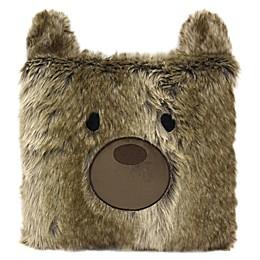 American Kids Bear Throw Pillow in Brown