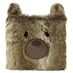 American Kids Bear Throw Pillow in Brown
