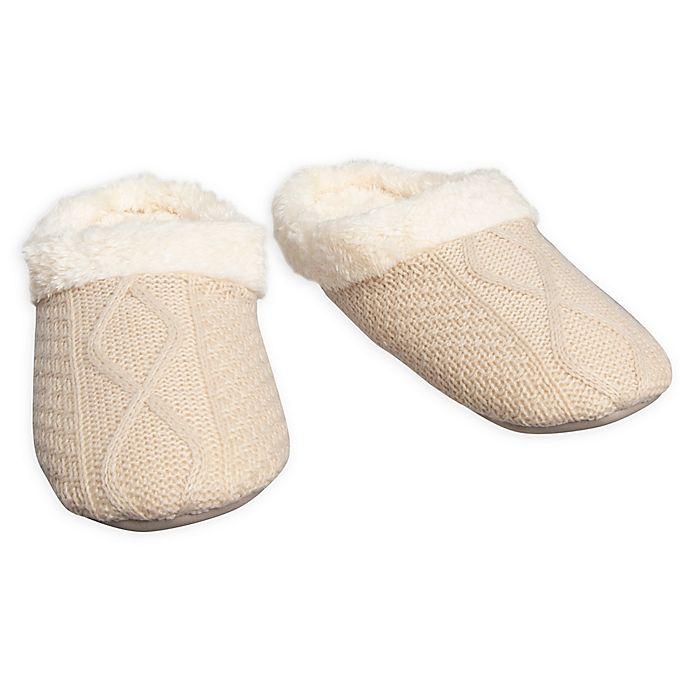 Loft Living Memory Foam Sweater Knit Slipper Bed Bath