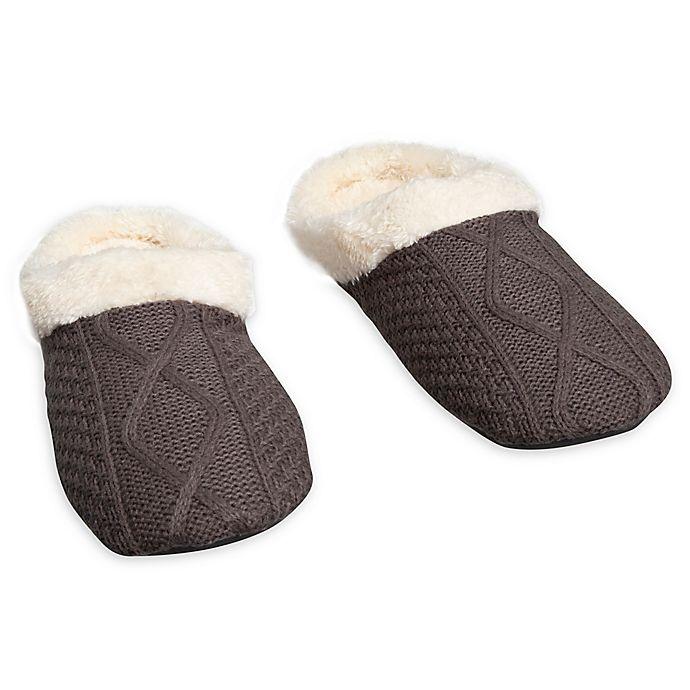 Alternate image 1 for Loft Living Large Memory Foam Sweater Knit Slipper in Grey
