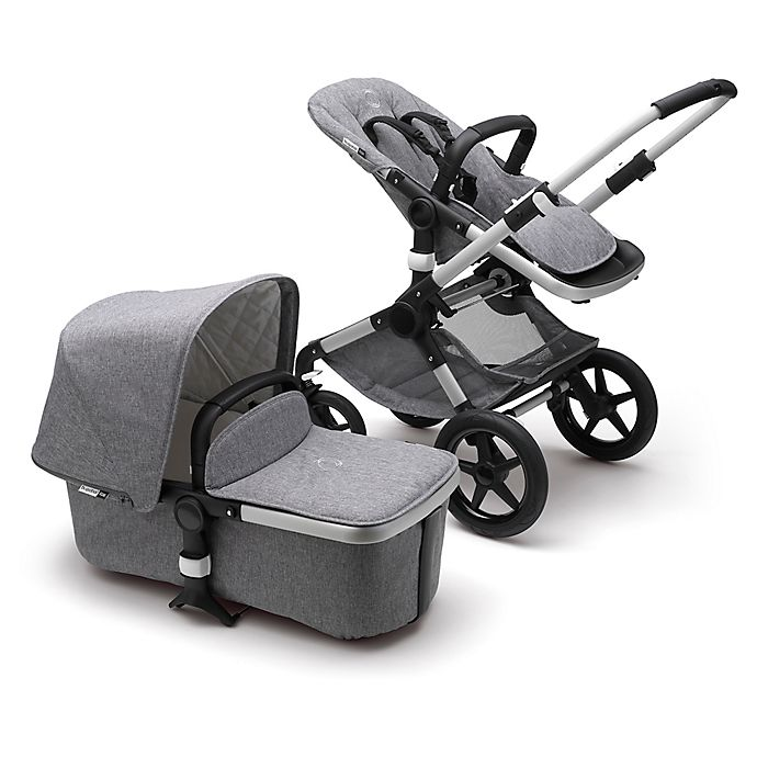 Alternate image 1 for Bugaboo Fox Classic Complete Stroller in Aluminum/Grey Melange